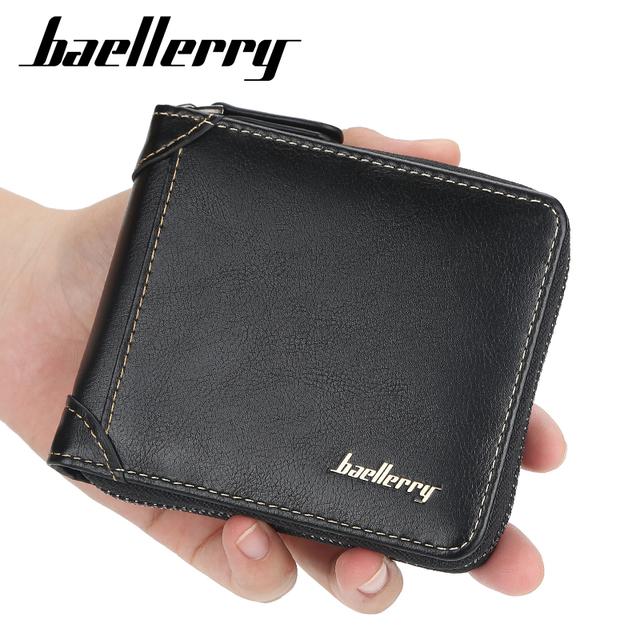 Men's short wallet fashion zipper purse