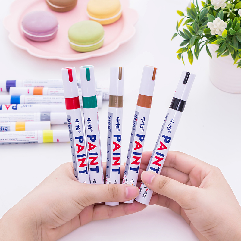 LifeMaster Sipa Paint Marker 3mm 12 Colors Available Gold/Silver/Pink/White Mark on Everything image