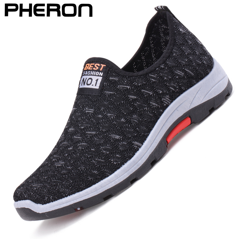 Summer Mesh Men Casual Shoes Breathable Slip on Mens Loafers Lightweight Sneakers Men Non-slip Walking Shoes Zapatillas Hombre 1