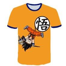 2021 bebê menino roupas dos desenhos animados das crianças goku-dragon-ball-camiseta verão moda menino e menina 3d impresso curto-mangas compridas topo