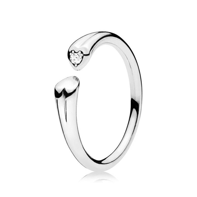 Кольцо на палец в форме сердечко серебряного цвета для женщин, европейская оригинальная Корона, изящные кольца на палец, свадебные украшения, 50 стилей, Прямая поставка - Цвет основного камня: Rings 043