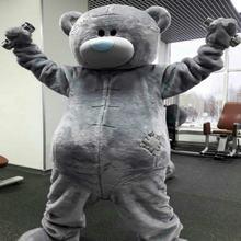Новый костюм талисмана медведя меховые костюмы для косплея вечерние