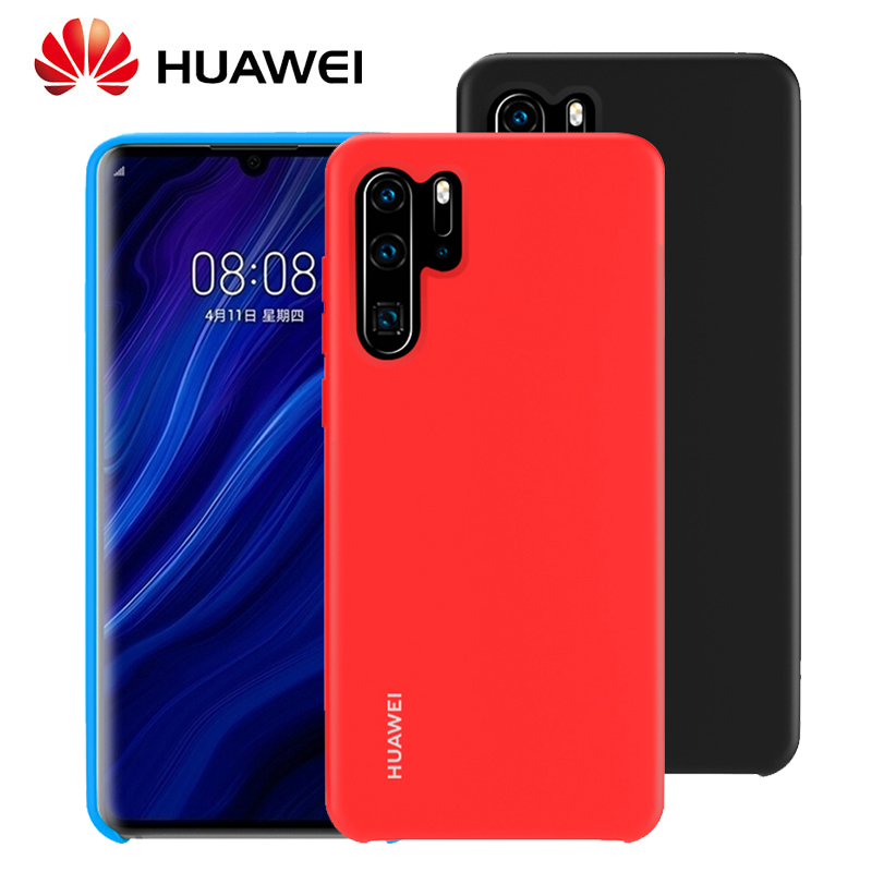 HUAWEI P30 Pro Cover Official Original High Soft Silicone Shockproof Protection Back Huawei Lite P20 Case