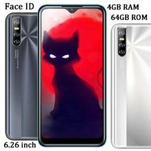 6,26 zoll Wasser Tropfen Screen 10i 4G RAM 64G ROM Gesicht Id Quad Core 13MP HD Kamera Entsperrt android Smartphones Globale Handys