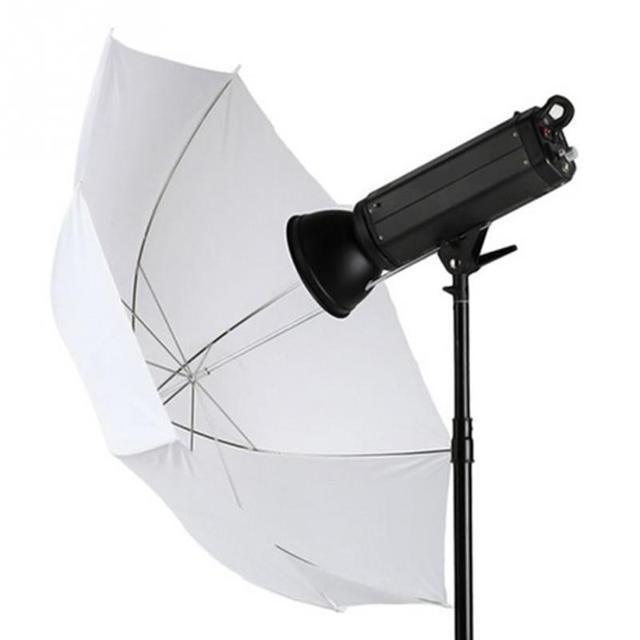 อุปกรณ์เสริมสำหรับสตูดิโอถ่ายภาพร่มวิดีโอกล้อง 33 นิ้ว 83 ซม.การถ่ายภาพProแฟลชโปร่งแสงสีขาว