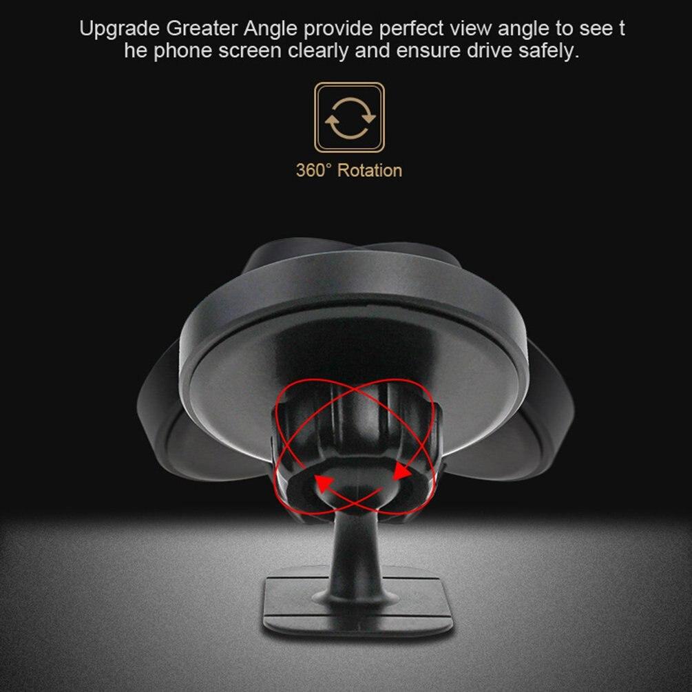 Strong Magnetic Clock Mobile Phone Bracket 360 Degree Rotatable Instrument Panel Paste Type Universal Navigation New Bracket|Anti-Slip Mat| |  -