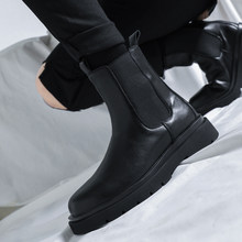 New luxury Chelsea boots men's ankle boots chunky winter shoes platform ankle boots wear chunky BV boots brand designer