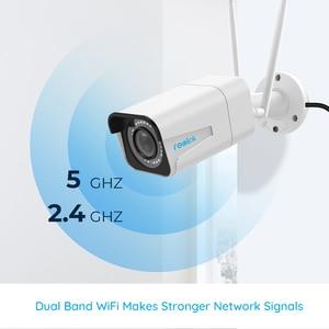 Image 3 - Reolink RLC 511W 2 חבילה WiFi מצלמה 2.4G/5G 4MP/5MP Bullet IP מצלמה 4x זום אופטי SD כרטיס חריץ ראיית לילה 5MP מצלמה