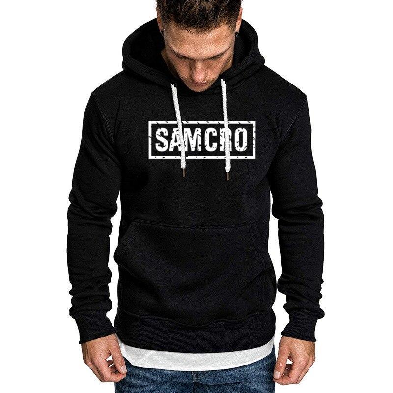 SOA Sons of Anarchy The Child SAMCRO Men Hoodie Sport Casual Man Sweatshirt Winter Fleece Fashion Hip Hop Warm Hood