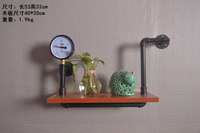 Industry Pipe Racks Wrought Iron Wall Pipe Retro Backdrop Wood Industry Water Separator Wall Shelves