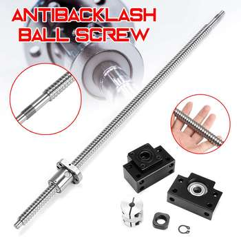 600mm SFU1605 Ball Screw with BK12 BF12 Supports and 6.35x10mm Coupler for CNC