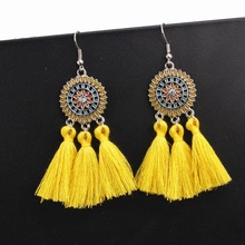 Hot Sale Bohemian Handmade Earrings For Women Boho Style Woman Tassel Earring Female Jewelry Bridal Fringed Vintage Pendientes