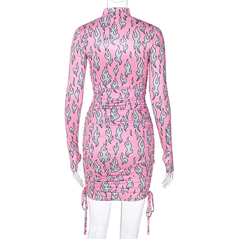 print turtleneck dress19