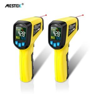 Mestek -50 to 600 Infrared Thermometer Non Contact Laser IR Temperature LCD Display Gun Pyrometer Tester Digital termometre