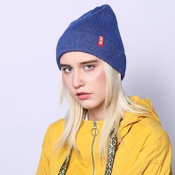 NUZADA Brand Letters Autumn Winter Hat Knitted Caps Men Women Skullies Beanies Cap Bonnet Wool Rabbit Hair Blend