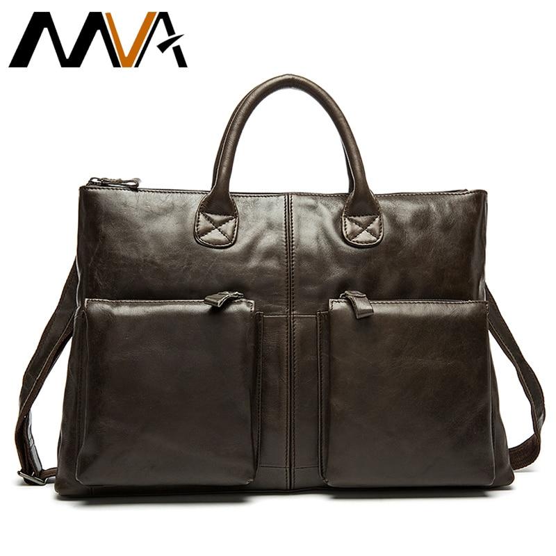 2019 Male Briefcase Genuine Leather Handbag Business Men Bags For Document Messenger Bag Men Shoulder Leather Laptop Briefcase