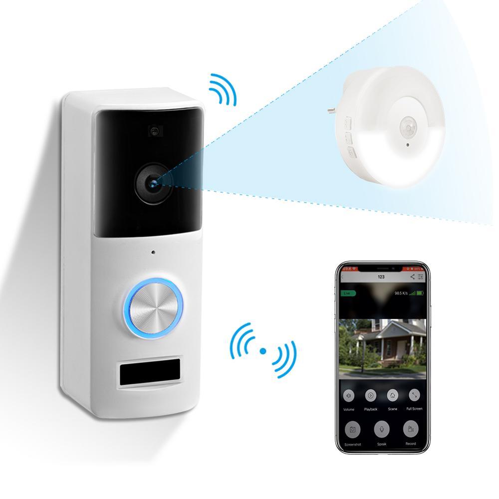 Smart PIR Visual Intercom WI-FI Video Door Phone Door Bell Intercom Camera For Apartments IR Alarm Wireless Security Camera