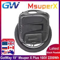 El más nuevo Gotway Msuper X plus 100V 2200wh 19 pulgadas monociclo eléctrico auto-equilibrio scooter 2000W motor de alta potencia MOS 21700 batería