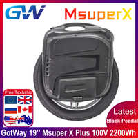 Newest Gotway Msuper X plus 100V 2200wh 19inch Electric unicycle self-balancing scooter 2000W motor high power MOS 21700 battery