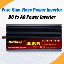 Чистый синусоидальный инвертор 2000 Вт 3000 Вт 4000 Вт 12 В 24 В 220 В трансформатор напряжения постоянного тока 12 В в переменный ток 230 в преобразователь с 2 светодиодный дисплей