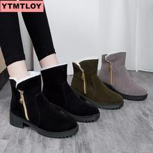 Womens Snow Boots 2019New Ladies Winter New Shoes Warm in the Tube Cotton
