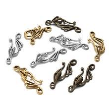 10pcs Antique Bronze Gold Musical Note Shape Zinc Alloy Toggle Clasps Hooks For Necklace Bracelet Jewelry Making Supplies DIY