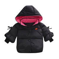 Children Winter Coats Toddler Baby Girl Boy Long Sleeves Solid Hooded Warm Waistcoat Vest Kids Cute Clothing For 6 24M