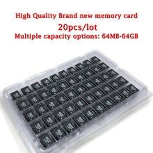 20 pçs/lote brand new cartão micro SD card 64MB 128MB 256MB 512MB GB GB class10 2 1 4GB 8GB GB GB 64 32 16GB Micro Cartão de Memória TF