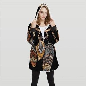 Image 2 - 2019 chaqueta Bomber de talla grande con capucha Convertible con estampado 3d para mujer, 100% Tops de poliéster, chaqueta suave para mujer, diseño al cliente Wy23