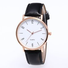 Leather Strap Wristwatch Cheap Watchband Fashion Classic Design Workmanship Big Roung Dial