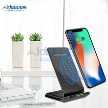 Uniwersalny 10W bezprzewodowa ładowarka qi stojak na iphone'a 11 Pro X XS 8 XR dla Samsung S9 S10 S8 S10E szybka bezprzewodowa ładowarka do telefonu