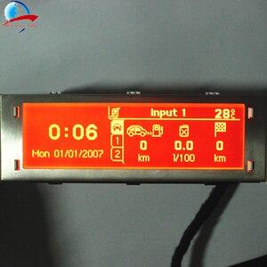 Image 1 - 12 Pin araba 4 menü ekranı kırmızı ekran desteği USB ve Bluetooth monitör Peugeot 307 407 408 citroen C4 C5 yok iklim kontrolü