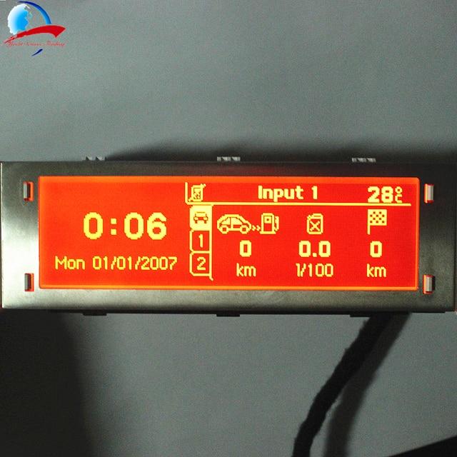 12 Pin araba 4 menü ekranı kırmızı ekran desteği USB ve Bluetooth monitör Peugeot 307 407 408 citroen C4 C5 yok iklim kontrolü