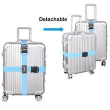 Съемный крест путешествия багажный ремень упаковка ремни чемодан сумка ремни безопасности с замком XOA