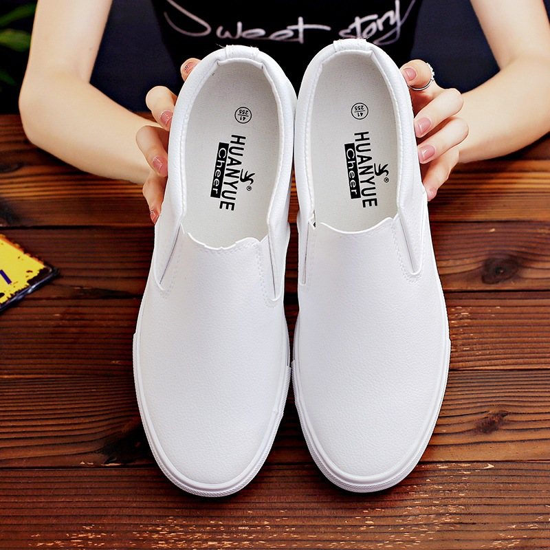 Leather Casual Shoes White Sneakers Slip On Casual Shoes Men Loafers Fashion Flats Sneakers Male Loafers Zapatillas Hombre 2020