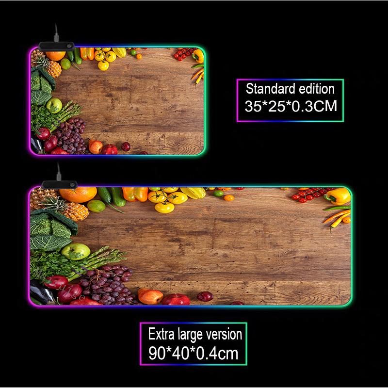 Mairuige домашняя разделочная доска фрукты rgb игровой коврик