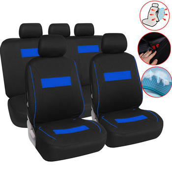 Front Rear Car Seat Cover Universal Car Seat Protector 2 Colors Option for Mitsubishi Lancer Montero Outlander