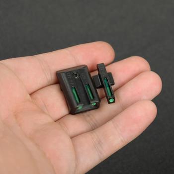 Taktik gerçek Fiber optik ön arka görüş seti kırmızı yeşil Sight Colt 1911 için kesim. 270. 450 tabanca M1911 ücretsiz kargo