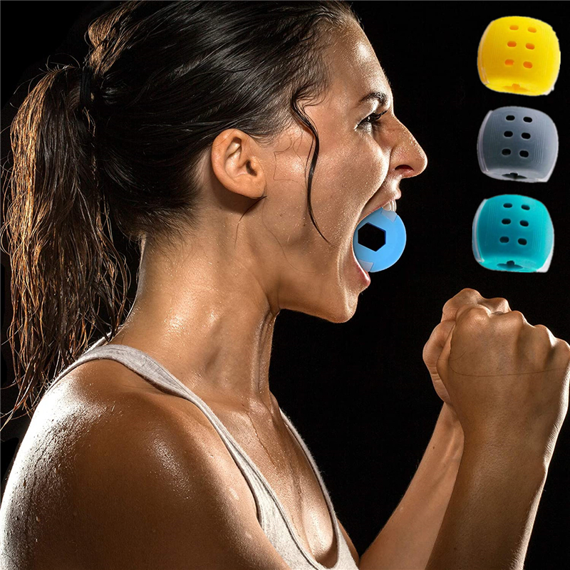 30-50Lbs New Food Grade Silicone Jawline Fitness Ball Face Jaw Trainer Facial Bite Muscle Chew Device Neck Mandibular Exerciser