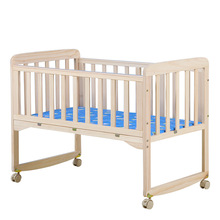 Co-Sleeping Cribs rock swing solid wood unpainted eco-friendly baby bed bed rocking bed push bed variable desk baby cradle bed