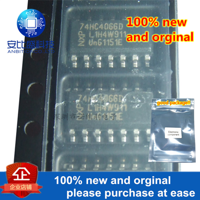 10pcs 100% New And Orginal 74HC4066D SOP-14 Quad Bilateral Switches In Stock