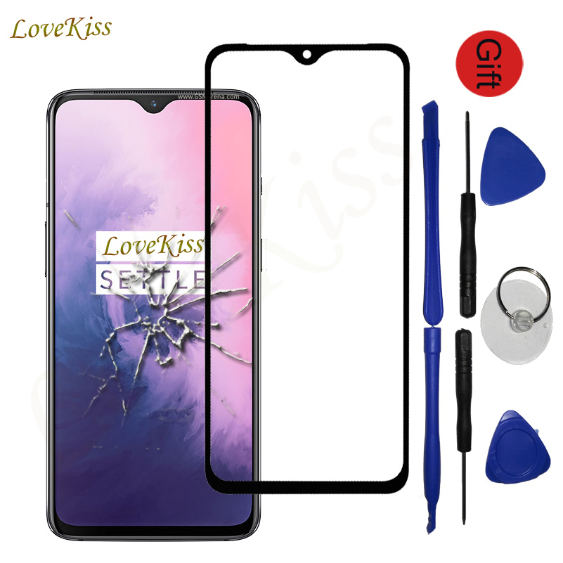 For Oneplus 7 7T 6T 6 5 5T GM1903 One Plus 3 A3000 3T A3010 Touch Screen Sensor Front Panel Digitizer Glass Cover Replacement