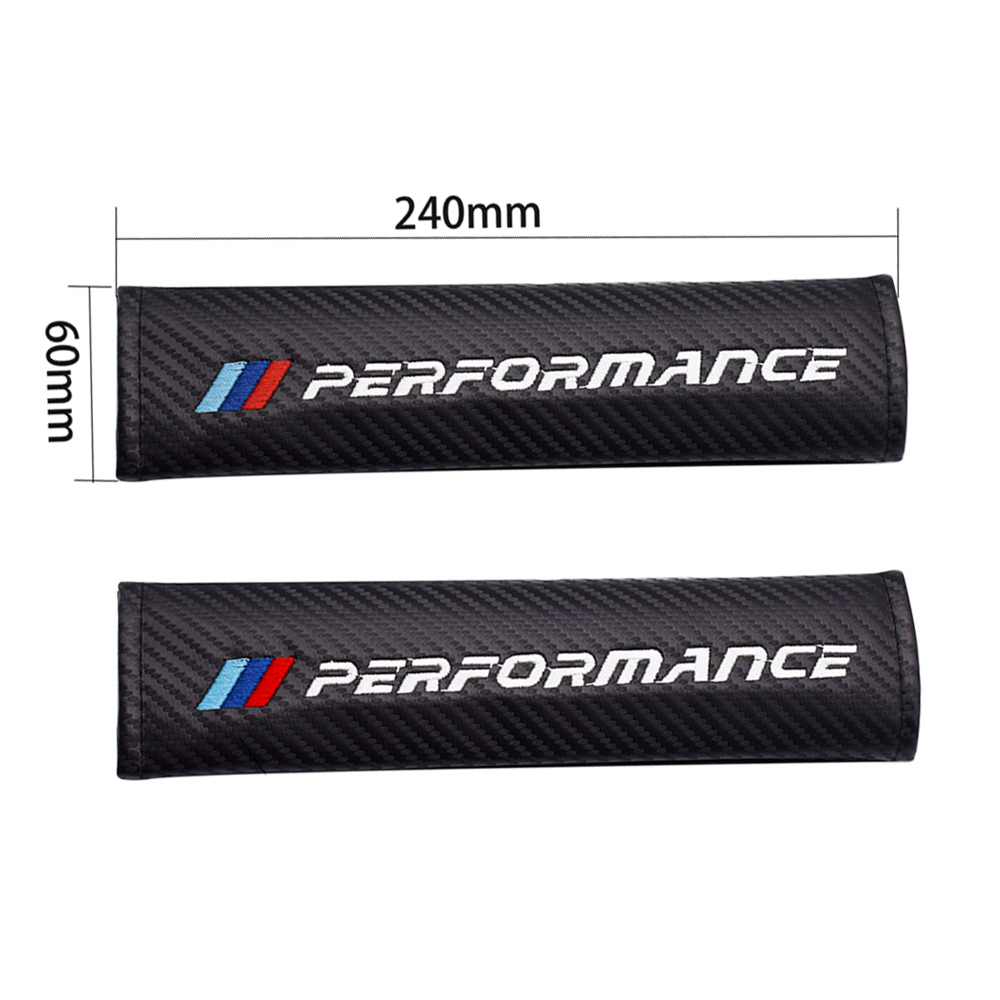 1Pair Shoulder Seat Belt Protector Decoration Car Logo Embroidery Pads Strap For BMW ///M Color E90 E36 E39 F10 X3 X5 Car Stuff image
