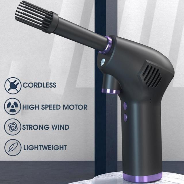 45000 RPM Wireless Air Duster Cleaner Blower Hand-Held Charging Cordless Dust Blower Tablet Laptop Computer Accessories 5
