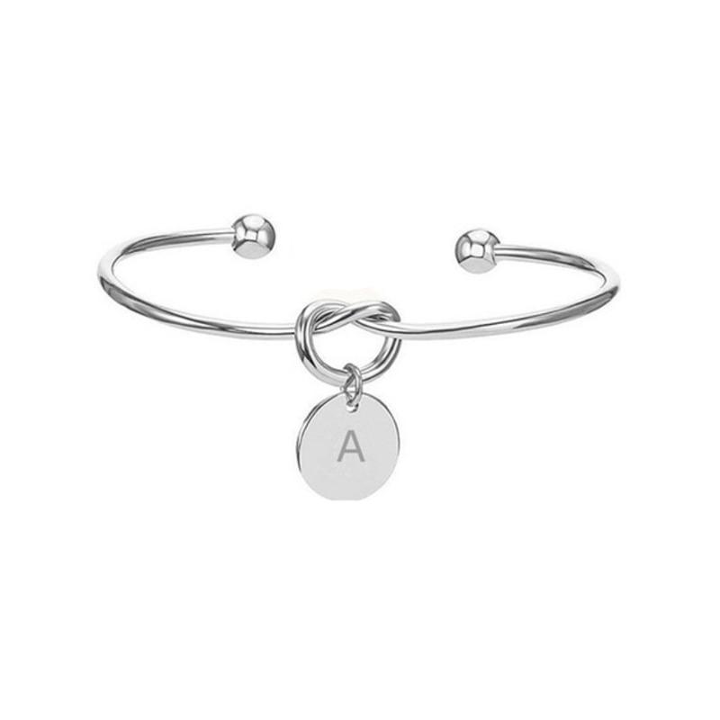 Подарки на день Святого Валентина, начальный Романтический браслет, свадебный душ подружки невесты, сувенир, вечерние подарки для подружки невесты - Габаритные размеры: Silver