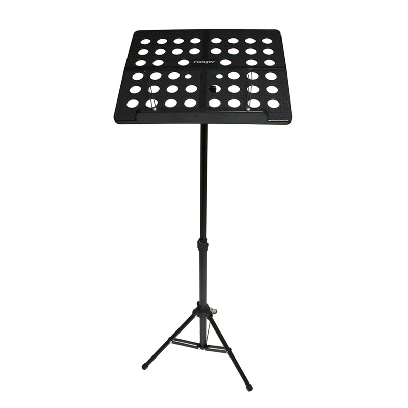 Flanger Folding Music Tripod Stand Holder Sheet Aluminum Alloy+ABS + Carrying Bag Musical Instruments(Black)