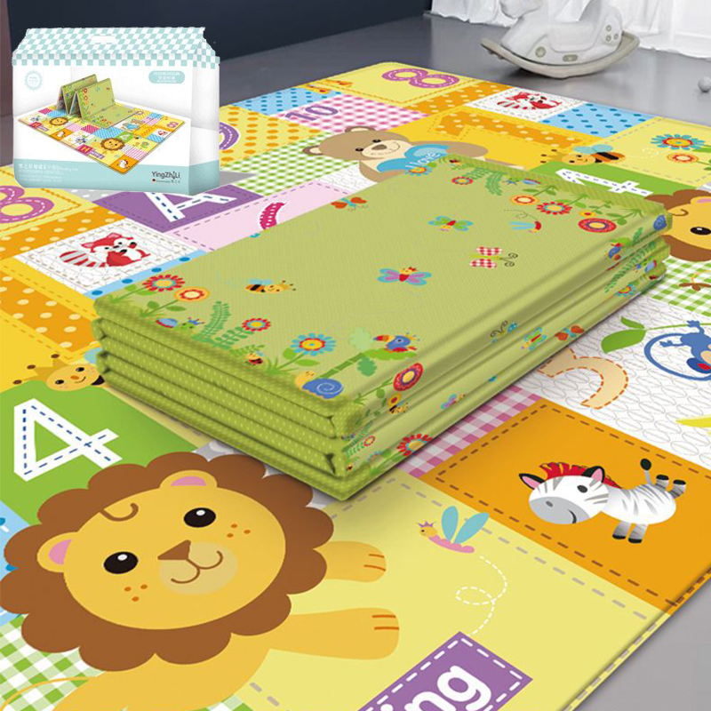 EVA Children's Crawling Mat Double-sided Waterproof Room Decor Soft Foam Nursery Rug Carpet Large Foldable Baby Play Mat Puzzle