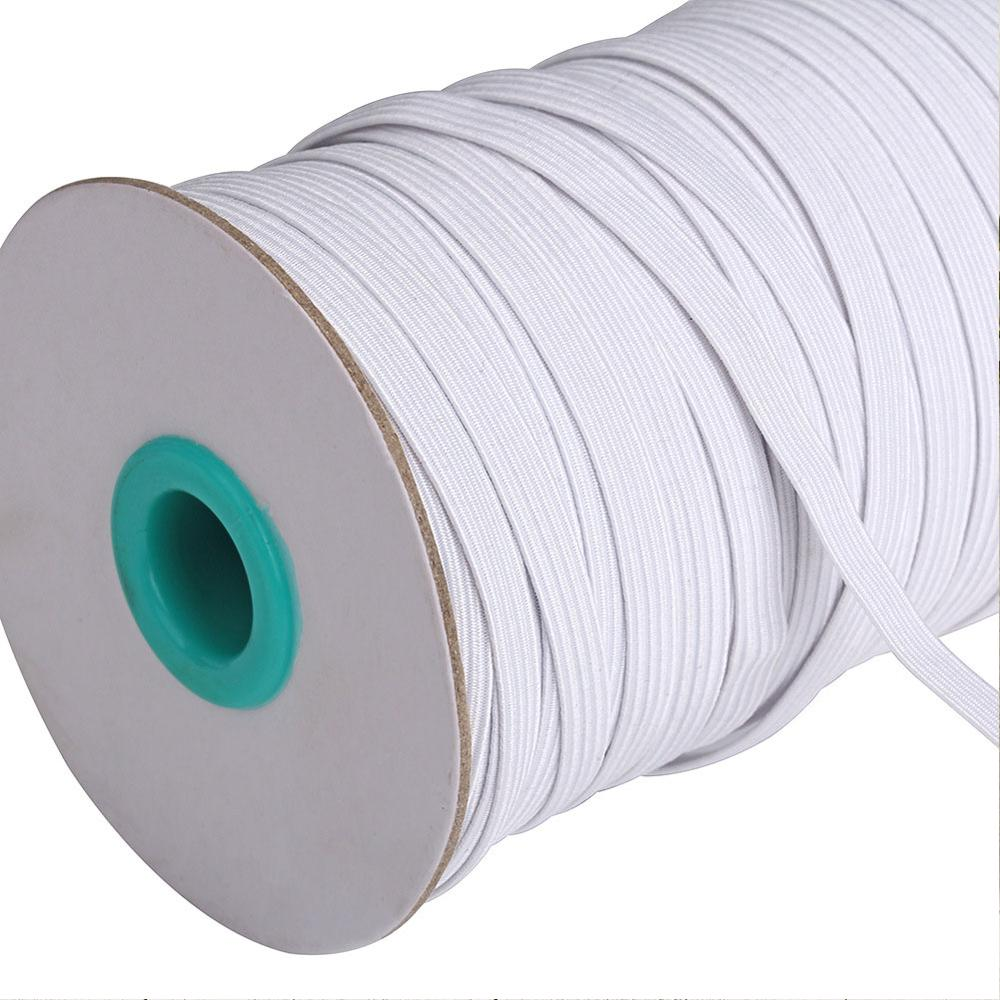 100/144Meter 6MM Sewing Elastic Band Masks White  High Elastic Flat Rubber Band Waist Band Sewing Rope For DIY Accessory