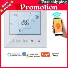 WiFi Thermostat 16A 3A Smart Touch Warm Floor Temperature Controller Electric Floor Heating Thermostat Tuya APP Remote Control