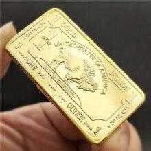 Памятная монета американский бык Золотой квадрат художественная коллекция подарков сувенир золото груза падения